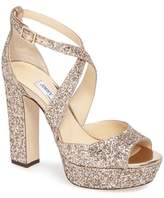 Jimmy Choo Women's April Glitter Platform Sandal