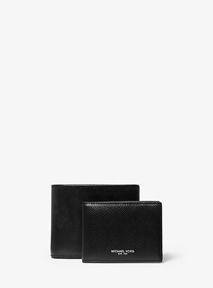 Michael Kors Harrison Crossgrain Leather Billfold Wallet With Passcase