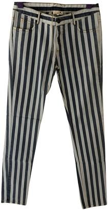soeur Blue Cotton Trousers