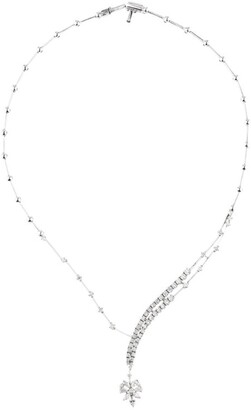 YEPREM White Gold and Diamond Y-Not Necklace
