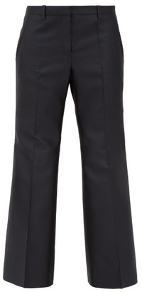 Givenchy Cropped Wool-blend Twill Kickflare Trousers - Black