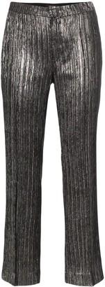 Isabel Marant Denlo metallic plisse cropped trousers