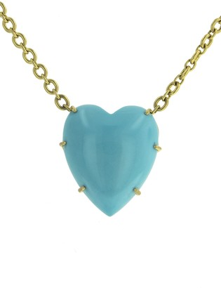 Irene Neuwirth One-of-a-Kind Turquoise Heart Yellow Gold Necklace
