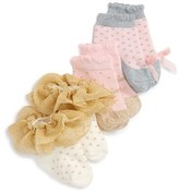 Mud Pie Infant Girl's 3-Pack Sparkle Socks