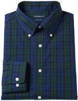 Croft & Barrow Men's Slim-Fit Plaid Broadcloth Dress Shirt