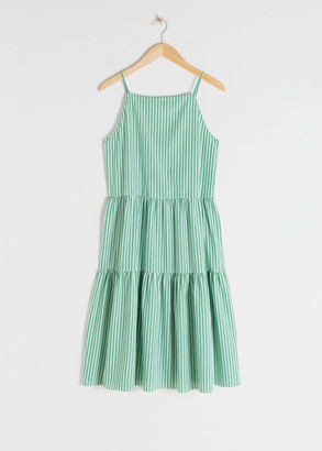 And other stories Gathered Pleated Midi Dress
