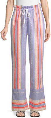 Lemlem Fiesta Striped Drawstring Pants