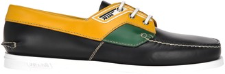 Prada Colour Block Boat Shoes