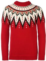Saint Laurent jacquard fair isle jumper