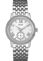 GUESS Women's Quartz Watch with Silver Dial Analogue Display and Silver Stainless Steel Bracelet W0573L1