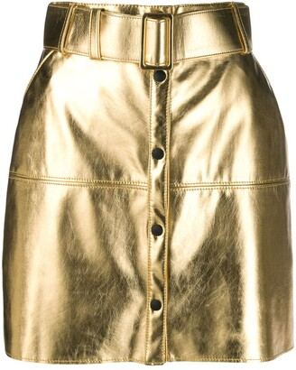 MSGM Metallic Pencil Mini Skirt