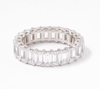 Diamonique Silver Choice Of Cut Eternity Band Ring, Platinum Clad