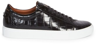 Givenchy Urban Street Croc Leather Sneakers