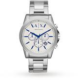 Armani Exchange Men's Dress Silver Steel Chronograph Watch AX2510