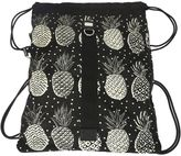 Dolce & Gabbana Pineapples Printed Black Nylon Backpack