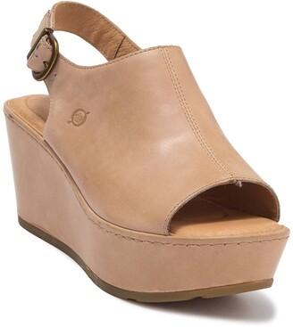 Børn Orbit Platform Wedge Peep Toe Sandal