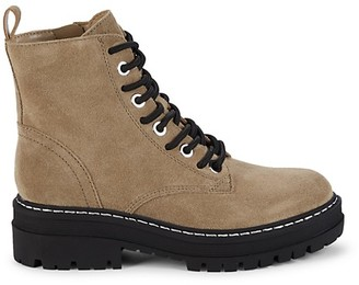 Marc Fisher Lace-Up Suede Boots