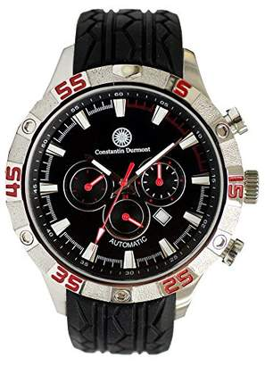 Constantin Durmont Men's Automatic Watch Dacota CD-DAC-at-RBSTSTBK-RD with Rubber Strap