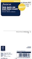 Filofax 2 Days Per Page 2017 Diary Insert, 3 Language, Personal