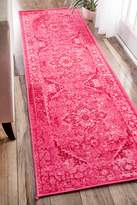 nuLoom Traditional Vintage Inspired Overdyed Fancy Runner Area Rug