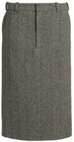 Raey Herringbone wool pencil skirt