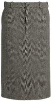 Raey Herringbone wool pencil skirt