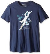 Nautica Men's Painted Island Map T-Shirt