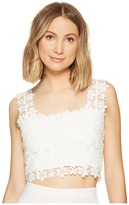 Nicole Miller Alexa Crochet Lace Crop Top Women's Clothing