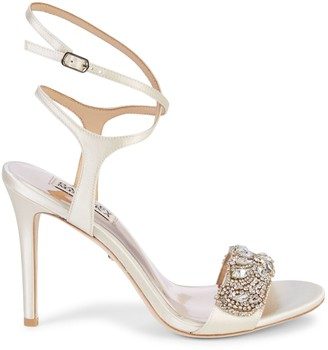 Badgley Mischka Hailey Embellished Strappy Sandals