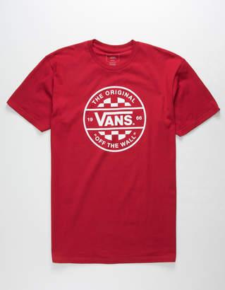 Vans Checker Co. II Cardinal Mens T-Shirt