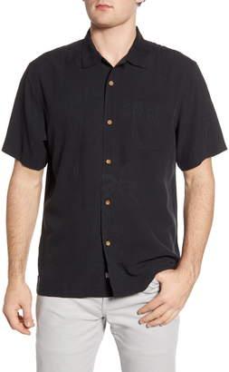 Tommy Bahama Sand Bar Short Sleeve Button-Up Silk Shirt