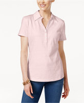 Karen Scott Cotton Polo Top, Only at Macy's
