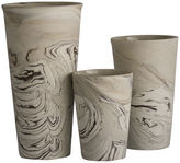 One Kings Lane Asst. of 3 Ceramic Marbleized Vases