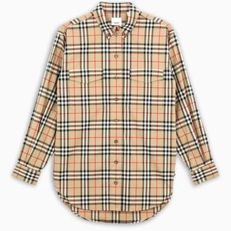 Burberry Woman's tartan Check motif over shirt