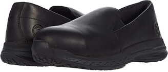 Timberland Drivetrain Slip-On Alloy Safety Toe (Black Leather) Women's Boots