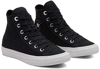 Converse Chuck Taylor All Star Crocheted - Hi (Black/White/White) Women's Shoes