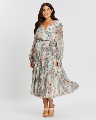 Atmos & Here Cleopatra Pleated Wrap Dress