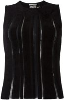 Fausto Puglisi exposed seam tank top - women - Polyamide/Viscose - 42