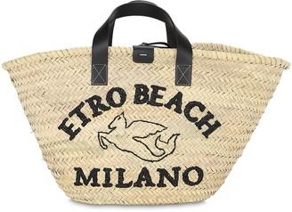 Etro Raffia Bucket Bag
