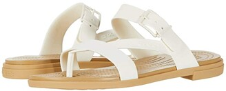 Crocs Tulum Toe Post Sandal (Mushroom/Stucco) Women's Sandals