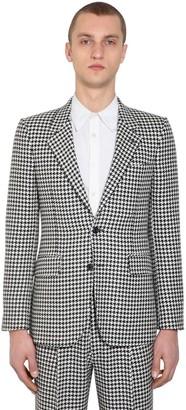 Alexander McQueen Wool Houndstooth Jacket
