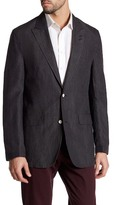 Robert Graham Kikuyu Grey Houndstooth Two Button Peak Lapel Classic Fit Jacket
