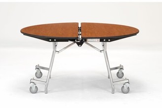 """Circular Cafeteria Table National Public Seating Tabletop Color: Holly Berry, Size: 72"""" L x 72"""" W"""