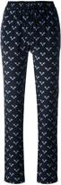 Markus Lupfer bumble bee print track pants - women - Silk - M