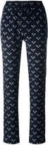 Markus Lupfer bumble bee print track pants - women - Silk - S