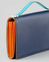 Vince Camuto Rina Organizer Clutch Bag, Midnight/Saffron/Tropical Green