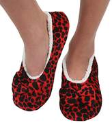 Womens Touch Me Snoozies Ballerina Slippers with Comfort Fit Split Sole Polka Dots 5/6