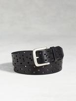 John Varvatos Leather Perforated Belt
