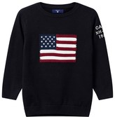 Gant Navy US Flag Intarsia Knit Infants Jumper