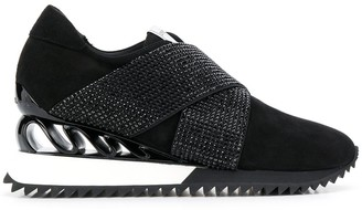 Le Silla Crystal Embellished Sneakers